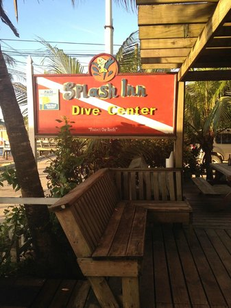 Splash Inn Dive Resort: Dive shop sign