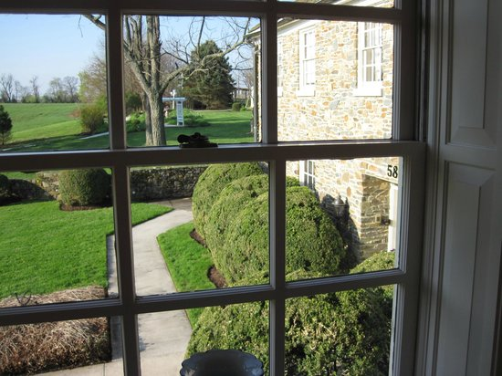 Stone Manor: View from one of the windows in the Laurel Suite