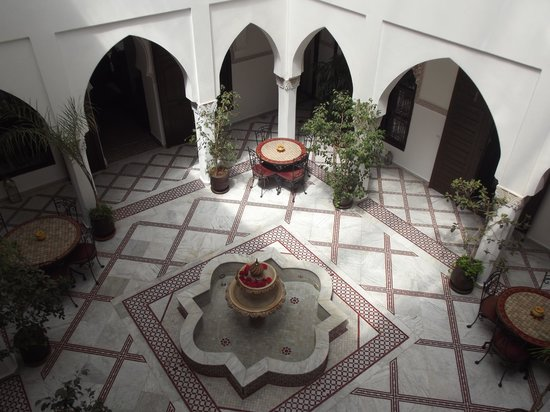 Riad Nasreen : The courtyard