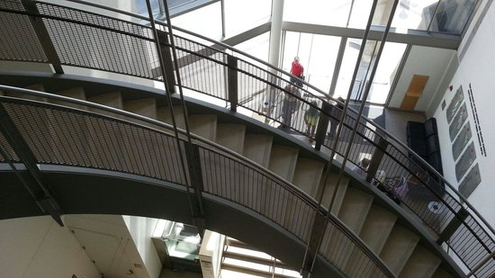 The Walters Art Museum: Insider staircase looking at the entrance.