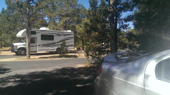 Mather Campground: My parking vs. neighbors across the way - 8' wide street.