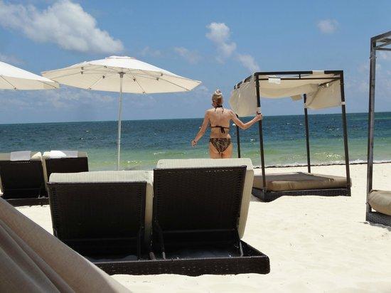 Moon Palace Cancun: Nice beach, hardly anyone here - everyone at the pools