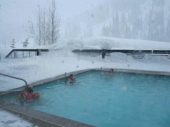 Alta's Rustler Lodge: everybody loves swimming in the snow!
