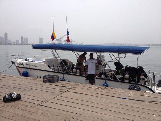 Cartagena Divers: Embarcação