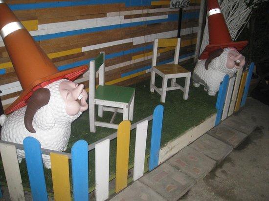 FUN-D Hostel: Lawn lambs.