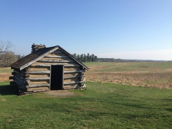 Valley Forge National Historical Park: A bunkhouse and the meadow