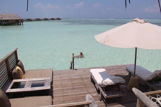 Gili Lankanfushi Maldives : Il nostro deck privato