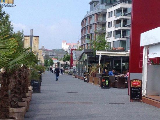 Eurovea Galleria: Restaurants behind the shopping mall