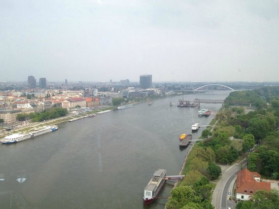 UFO Observation Deck : View from the Ufo to Danube river