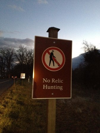 Gettysburg National Military Park: No relic hunting!