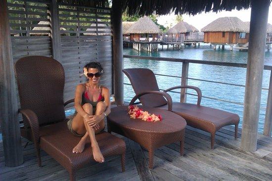 Sofitel Bora Bora Marara Beach Resort: in our patio and deck of the over the water