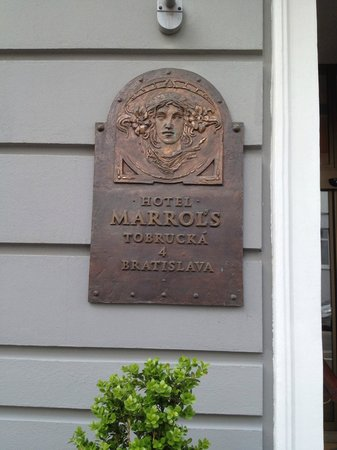 Marrol's Boutique Hotel Bratislava : Sign of the hotel