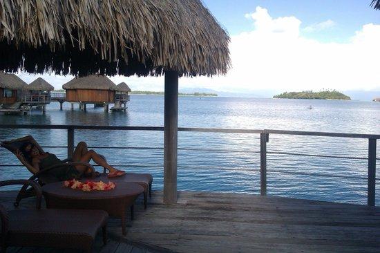 Sofitel Bora Bora Marara Beach Resort : view from our private deck over the water