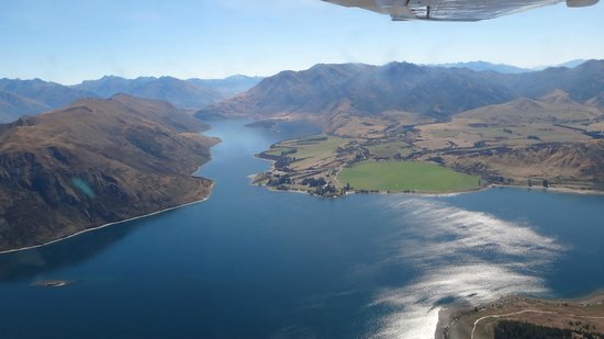 Southern Alps Air - Scenic Flights: Milford Sound view from plane.
