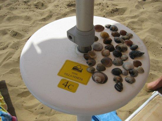Villa Veneta: Пляжный зонтик