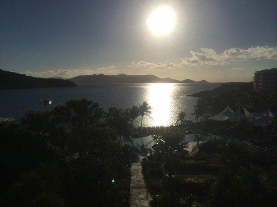The Ritz-Carlton Club, St. Thomas: Sunrise over the pool and beach RC St. Thomas