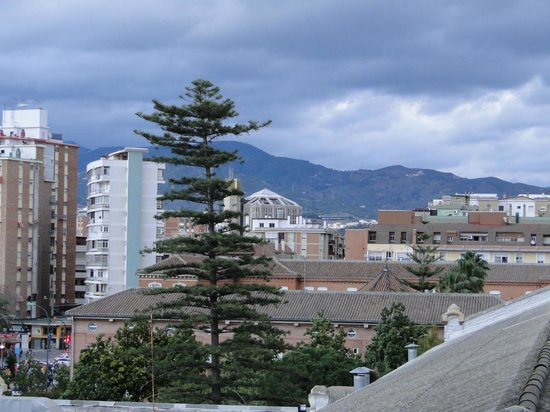 Sercotel Malaga: The view from our hotel room