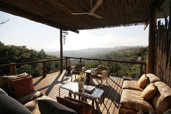 Utopia in Africa: The deck. Great place to chill out