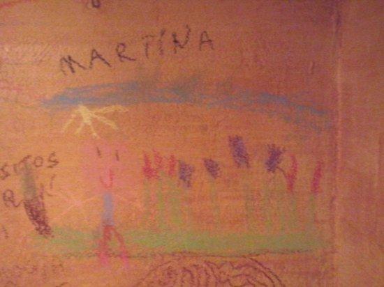 Ristorante Osteria L'angolo Di Sapia : Disegno sui muri