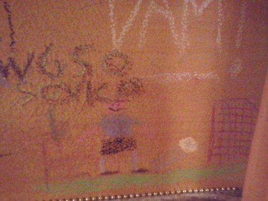 Ristorante Osteria L'angolo Di Sapia : Disegni sul muro
