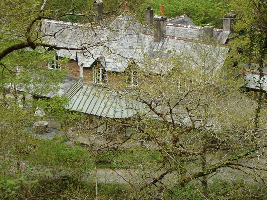 Watersmeet National Trust Tea Rooms: From the path above