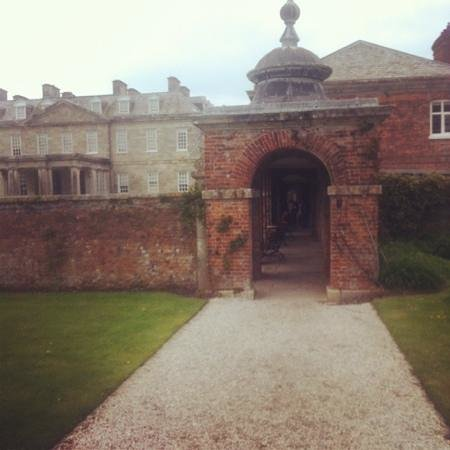 Antony House: the emtrance to the house