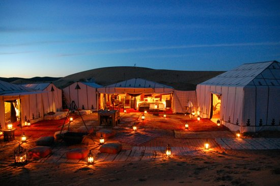 Camp by night - Picture of Desert Luxury Camp, Erg Chebbi ...