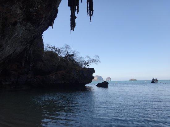Pranang Cave: detalhe das rochas