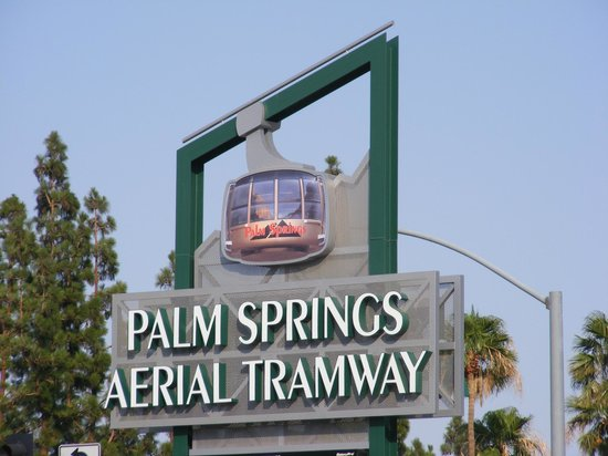 Marriott's Desert Springs Villas II: Entering the several mile drive up to the Palm Springs Aerial Tramway