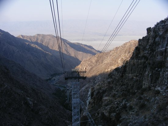 Marriott's Desert Springs Villas II: View from riding up the Palm Springs rotating Aerial Tram