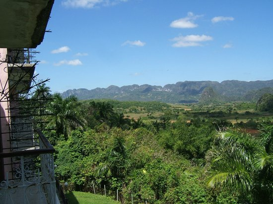 Hotel Los Jazmines: View from the bedroom balcony