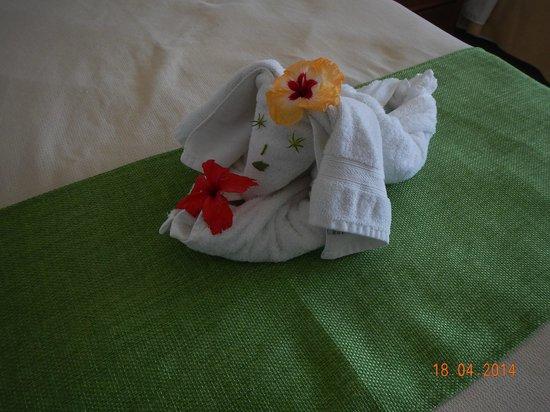 Paradise Oceanic Hotel : Towel figure