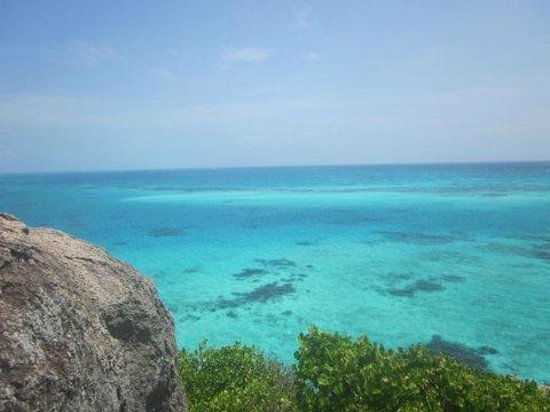 Crab Cay: vista do pico