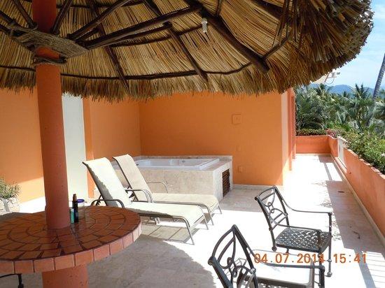 Villa del Palmar Beach Resort & Spa: Our terrace.  Room 1309