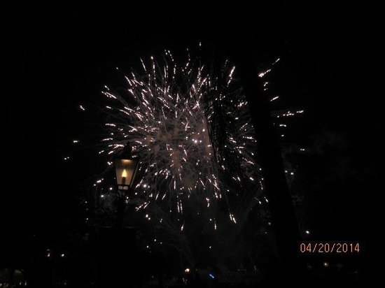 Epcot: And, the finale - the great fireworks display.
