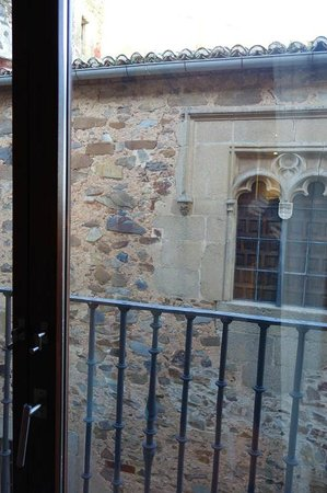 Parador de Caceres : balcony and view directly from window