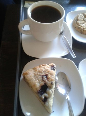 Cafe Connection: The only blueberry scone I've ever found in Peru!