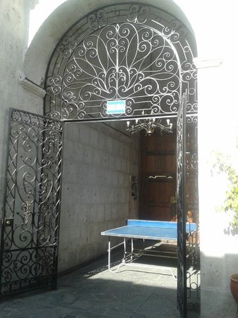 Cafe Connection: Ping pong/Table Tennis in the courtyard