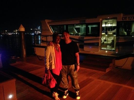 The Palace at One&Only Royal Mirage Dubai: getting on the boat to dinner @the One & Only The Palm