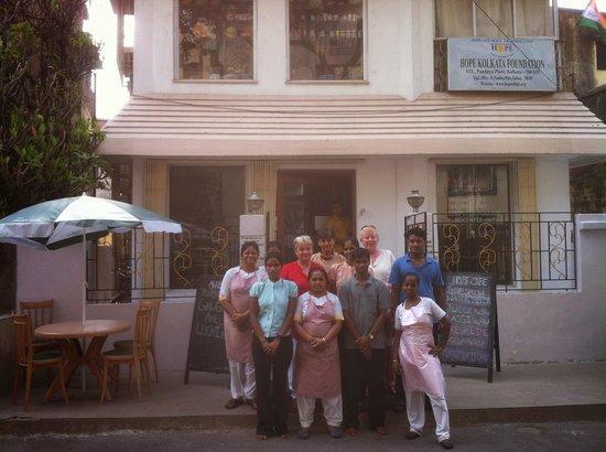Hope Café: Hope Cafe staff and friends