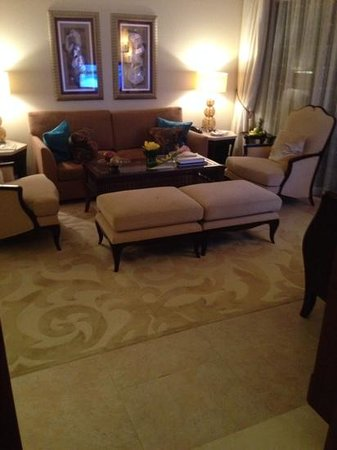 The Palace at One&Only Royal Mirage Dubai: the sitting room in my suite- lovely!