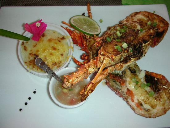 plat de langoustes picture of case coco restaurant sainte luce tripadvisor. Black Bedroom Furniture Sets. Home Design Ideas