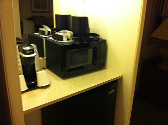 Bethesda Court Hotel: brewer, microwave and refrigerator