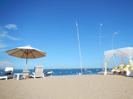 Grand Mirage Resort and Thalasso Bali : beach