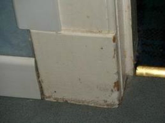 The Anchorage Hotel: Filthy skirting