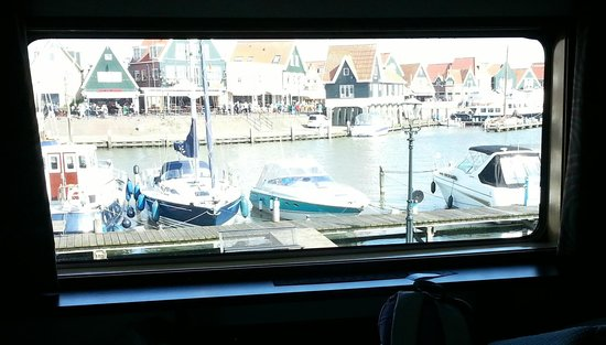 MS Rhein Princess Ship: view from our cabin window when docked