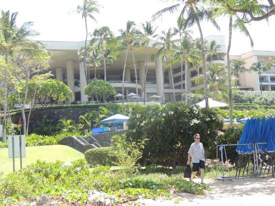 Hapuna Beach Prince Hotel : vista dalla spiaggia