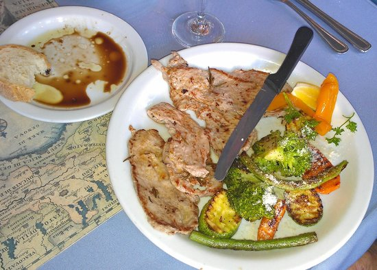 Ristorante Franchino: Tender grilled veal and veggies