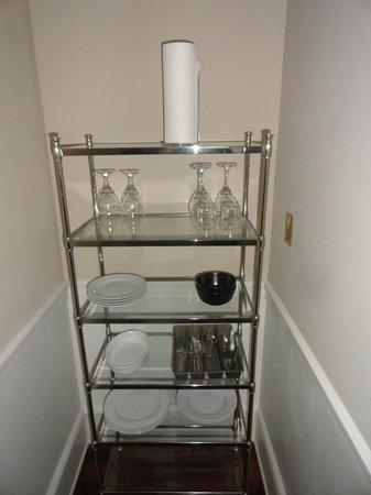 Hotel 340: Shelf full of everything you need