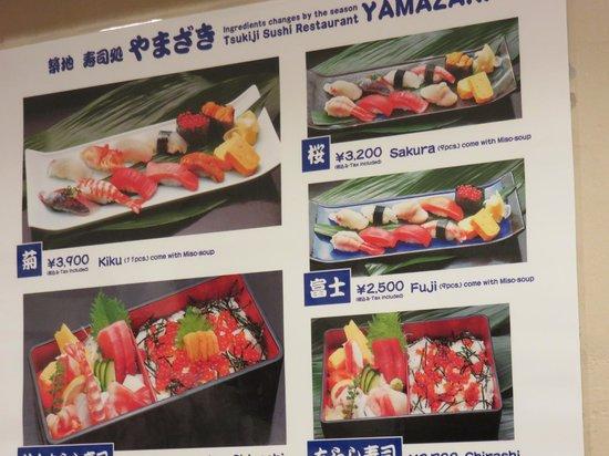Yamazaki: carte ou a la piece ? il font aussi un thon juste flambé (burn)